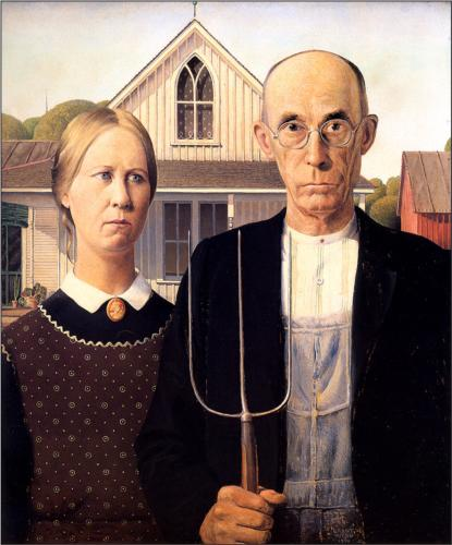 American Gothic by Grant DeVolson Wood