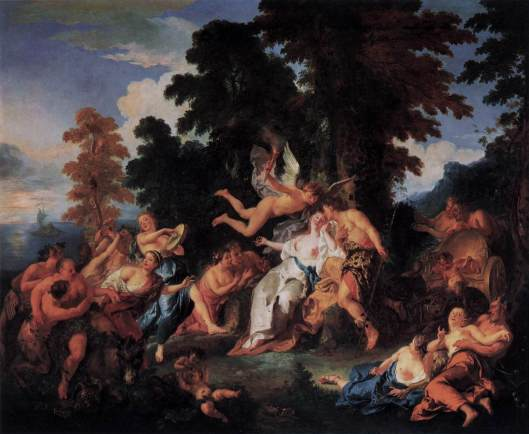 Bacchus and Ariadne by Jean Francois de Troy