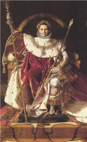 Portrait of Napoleon on the Imperial Throne by Jean-Auguste-Dominique Ingres