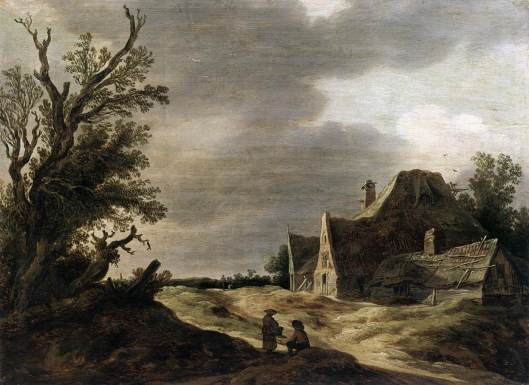 Sandy Road with a Farmhouse by Jan van Goyen