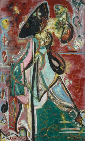 The Moon Woman by Paul Jackson Pollock