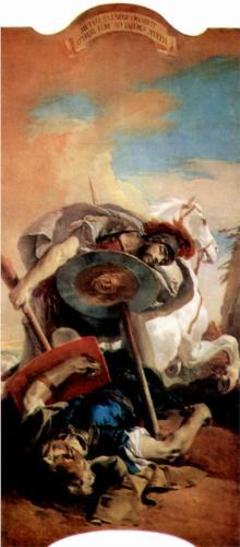 Eteokles and Polyneikes by Giovanni Battista Tiepolo