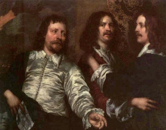 The Painter with Sir Charles Cottrell and Sir Balthasar Gerbier by William Dobson