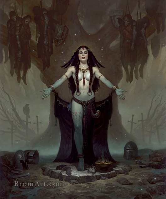 Morgan Le Fay by Brom