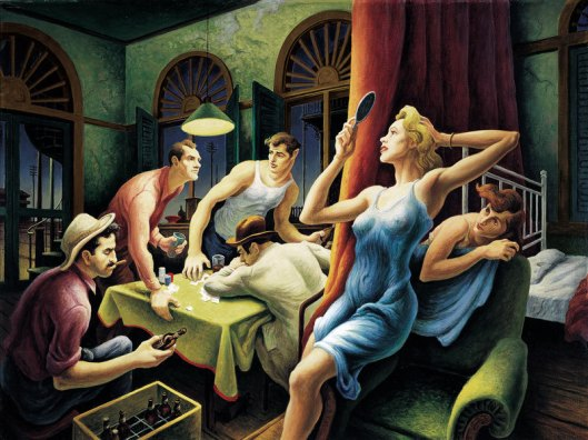 Poker Night by Thomas Hart Benton