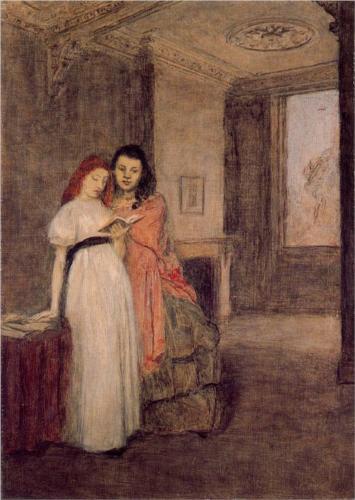 Interior wth Figures by Gwendolen Mary John