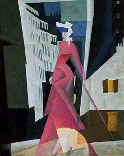Lady in Mauve by Lyonel Charles Feininger
