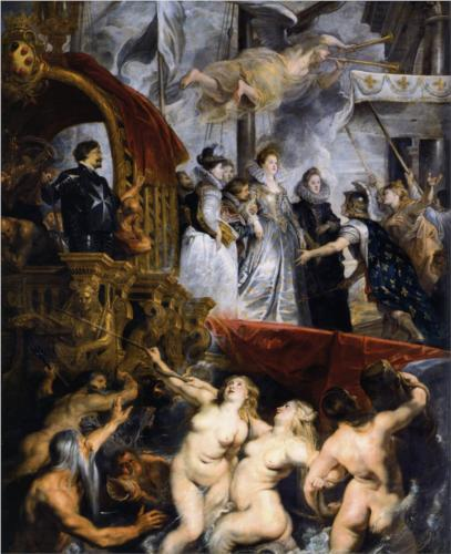 The Landing at Marseilles by Peter Paul Rubens
