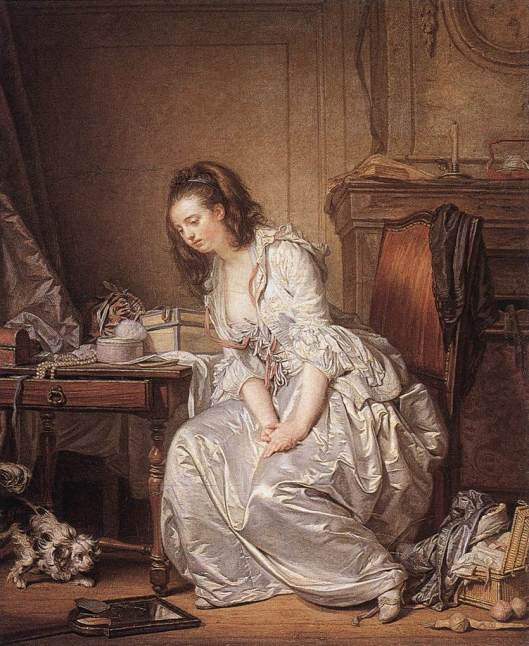 The Broken Mirror by Jean-Baptiste Greuze