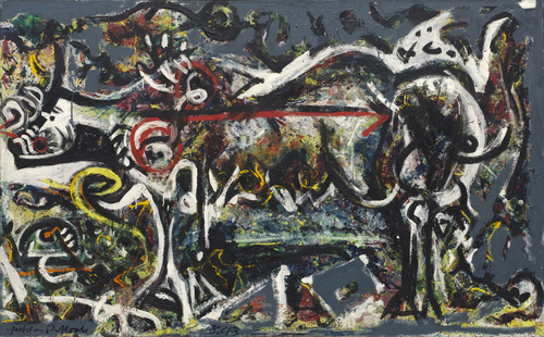 The She-wolf by Paul Jackson Pollock