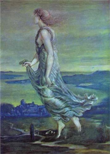 Hesperus. The Evening Star by Edward Coley Burne-Jones