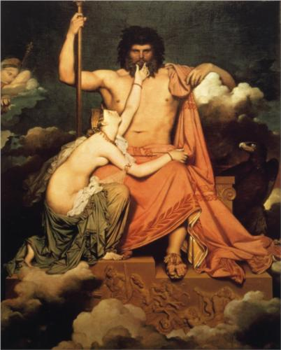 Jupiter and Thetis by Jean-Auguste-Dominique Ingres