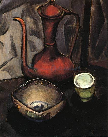 Still Life with Red Kettle by Man Ray