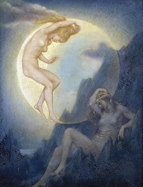 The Sleeping Earth and Wakening Moon by Evelyn De Morgan