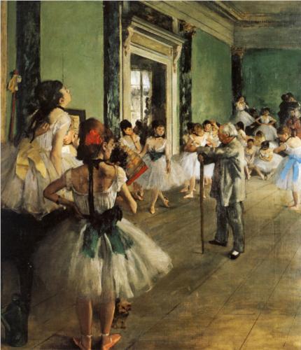 The Ballet Class by Hilaire-Germain-Edgar De Gas