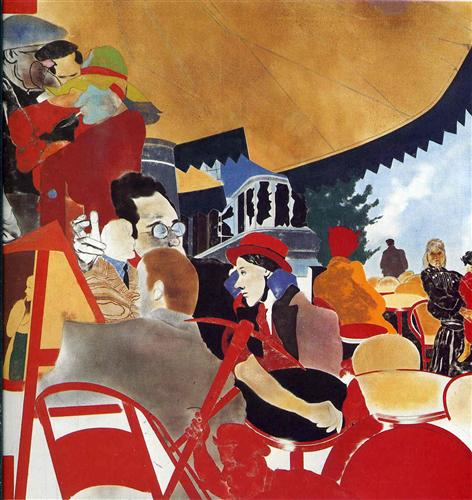 The Autumn of Central Paris by Ronald Brooks Kitaj