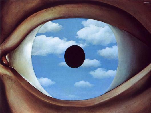 The False Mirror by René François Ghislain Magritte