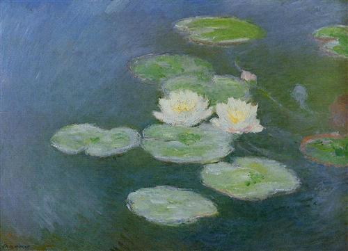 Water Lilies, Evening Effect by Oscar-Claude Monet