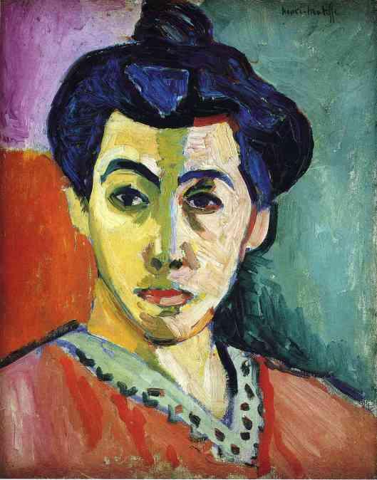 Portrait of Madame Matisse by Henri-Émile-Benoît Matisse