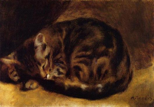 Sleeping Cat by Pierre-Auguste Renoir