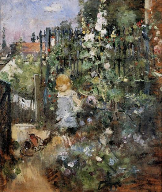 Child in the Rose Garden by Berthe Morisot