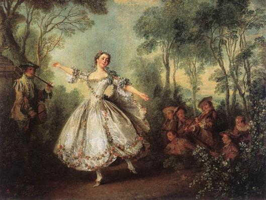 Mademoiselle de Camargo Dancing by Nicolas Lancret