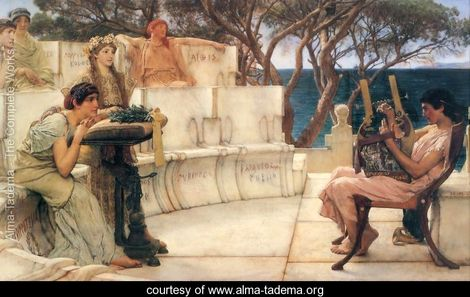 Sappho and Alcaeus by Lawrence Alma-Tadema