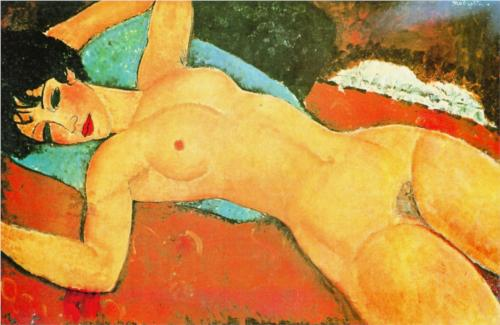Sleeping Nude with Arms Open by Amedeo Clemente Modigliani