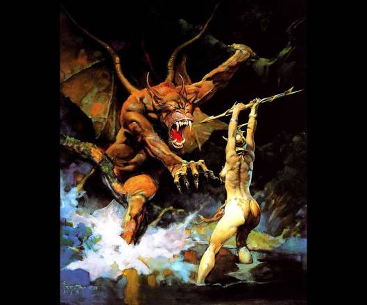 Beauty and the Beast by Frank Frazetta