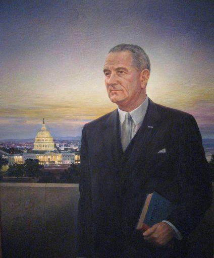 Lyndon B Johnson by Peter Hurd