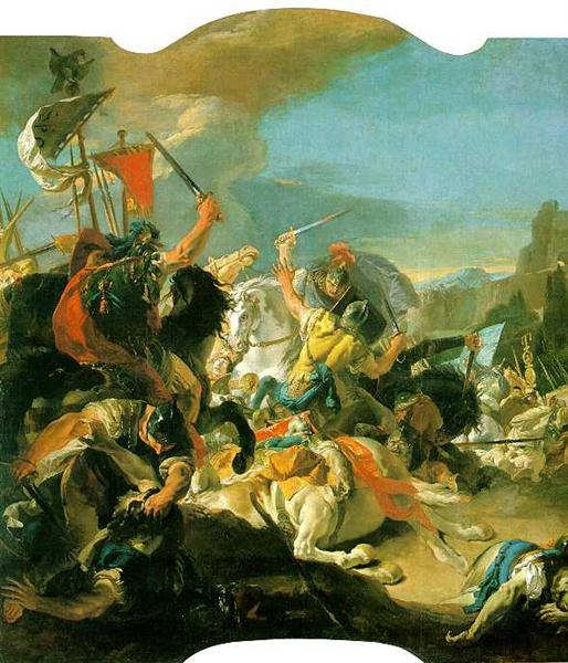 Battle of Vercellae by Giovanni Battista Tiepolo