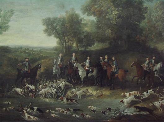 Louis XV Hunting Deer in the Saint-Germain Forest by Jean-Baptiste Oudry