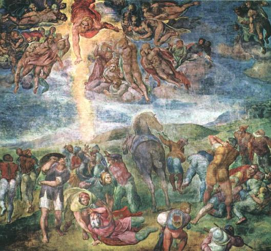 The Conversion of Saul by Michelangelo di Lodovico Buonarroti Simoni