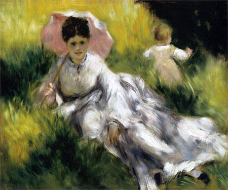 Woman with Parasol by Pierre-Auguste Renoir